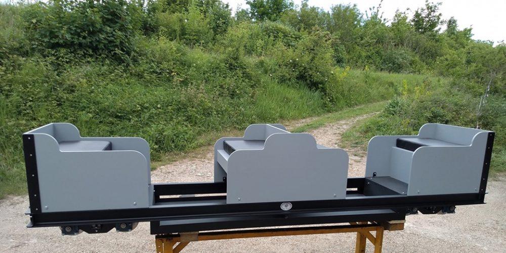 Custom built 5″ gauge sit-in carriage